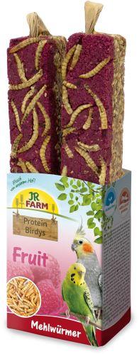 JR Birds Proteinová tyčinka Ovoce-Mouční červi 150 g