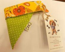 Funky Dog Šátek S zelený puntík/oranžový vzor