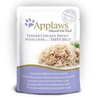 Applaws Kapsička Cat kuřecí prsa a kuřecí játra v aspiku 70 g