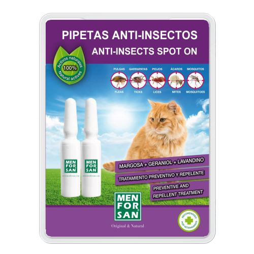 MenForSan Antiparazitní pipeta pro kočky 2 ks