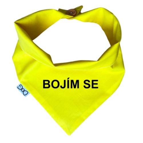 Funky Dog Žlutý šátek BOJÍM SE - vel. S