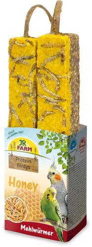 JR Birds Proteinová tyčinka Med-Mouční červi 150 g