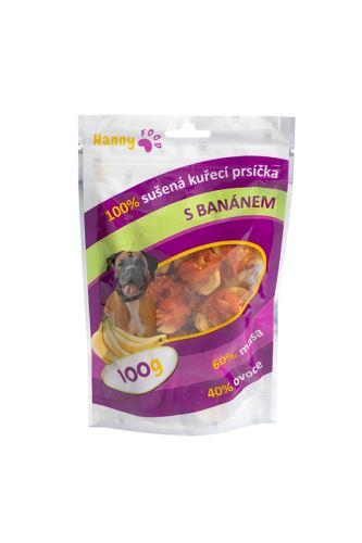 Hanny Food - Kuřecí prsíčka s banánem 100 g