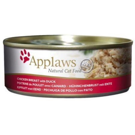 Applaws Konzerva Cat kuřecí prsa a kachna 156 g