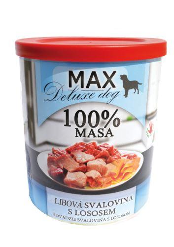 MAX Kostky libové svaloviny s lososem 800g