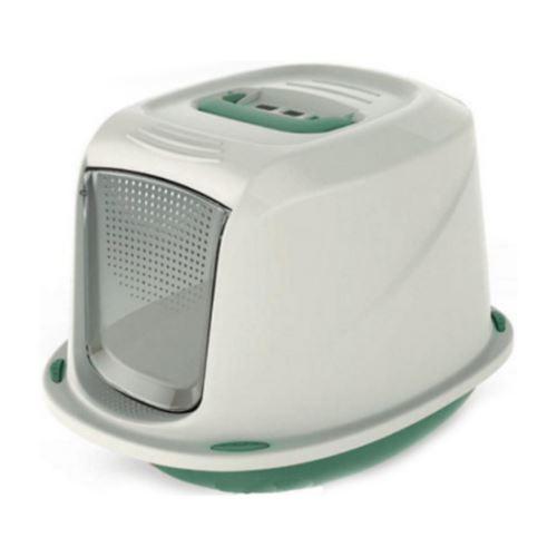 Krytá toaleta s filtrem a rukojetí zelená 45x36x31,5
