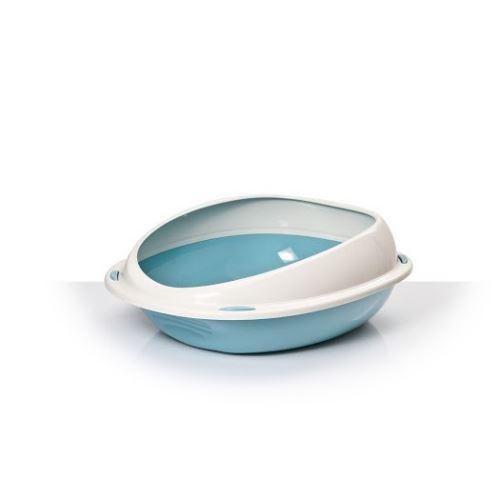 Toaleta s vysokým okrajem modrá 57x40,19