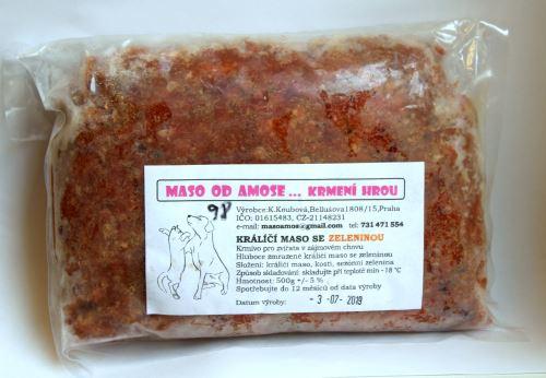 Amos Králičí se zeleninou sekané 500 g