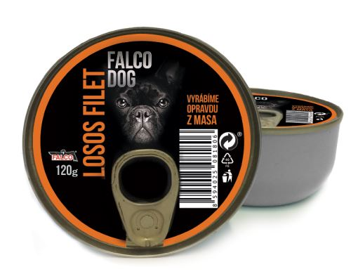 FALCO DOG 120g losos kýta 8ks