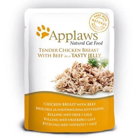 Applaws Kapsička Cat kuřecí prsa a hovězí v aspiku 70 g