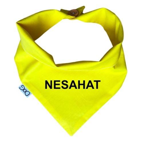 Funky Dog Žlutý šátek NESAHAT - vel. M