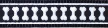 Obojek RD 15 mm Bones Reflex černá